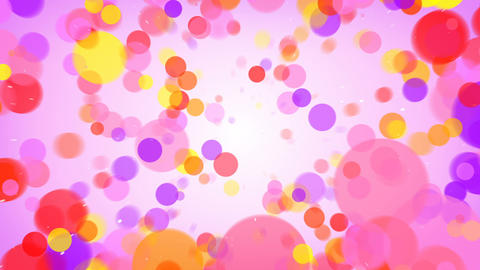 Flying colorful circles abstract background seamless loop Animation