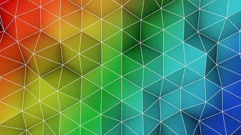 Colorful triangle polygons background loopable Animation