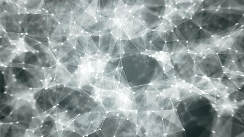 Cyber web. Abstract 3D render loop Animation