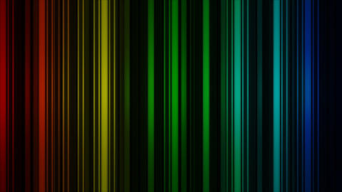 Glowing colorful vertical lines rotate. Abstract 3D render Animation