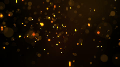 Fiery glowing particles falling down seamless loop Animation