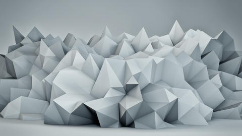 Chaotic white surface 3D render loop Animation
