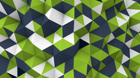 low poly geometric 3D render surface waving seamless loop Animation