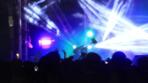flashing spotlights at concert Footage