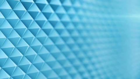 Blue surface waving 3D render. Seamless loop animation Footage