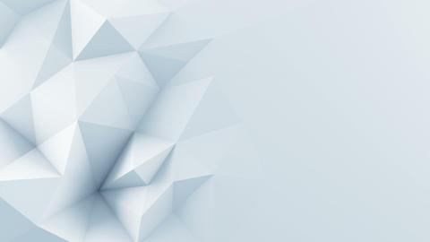 White polygonal shape 3D render animation loop Live Action