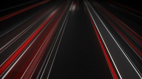 White and red traffic light streaks loopable animation Footage