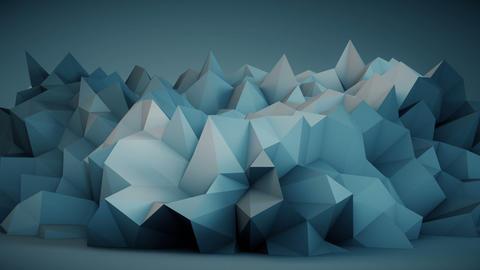 Blue surface vibrating seamles loop 3D rendering Footage