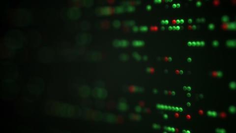Working LED Indicators on panel loopable animation Footage