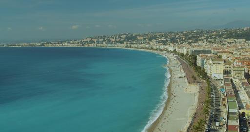 Beautiful coastline Villefranche-sur-Mer, France, Cote Dazur, French riviera Live Action