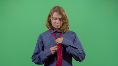Woman Fixing A Tie Live Action