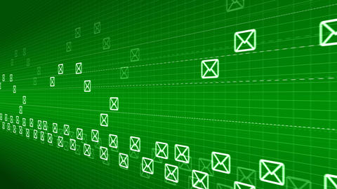 Flying mails abstract background Animation