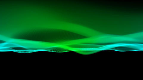 Digital color wave particles background CG動画