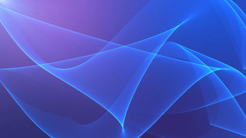 Abstract background with silk blue waves on violet background Animation