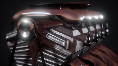 Close up detail of car engine Footage