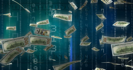 Flying Dollars Animation