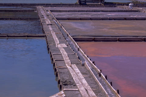 The healing colored salt mines of the resort Photo