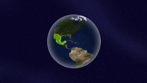 Earth Mexico high light glow loop animation Videos animados