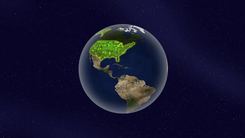 アメリカ グロー ハイライト 地球 ループ アニメーション CG動画