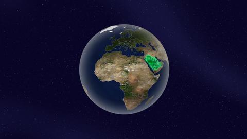 サウジアラビア グロー ハイライト 地球 ループ アニメーション CG動画
