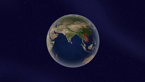 ベトナム グロー ハイライト 地球 ループ アニメーション CG動画