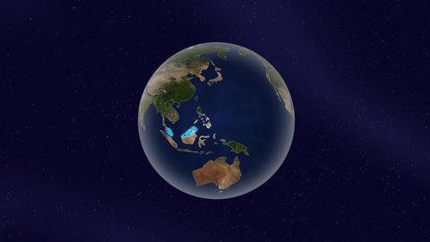 Earth malaysia high light glow loop animation Animation