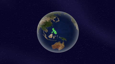 Earth Philippines high light glow loop animation Videos animados