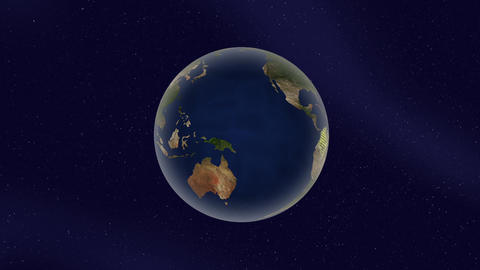 Earth Colombia high light glow loop animation, Stock Animation