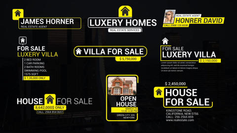 Real Estate Lower Thirds After Effects Template