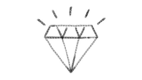 diamond icon designed with drawing style on chalkboard, animated footage ideal GIF