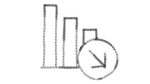 chart icon drawn with drawing style on chalkboard, animated footage ideal for Photo