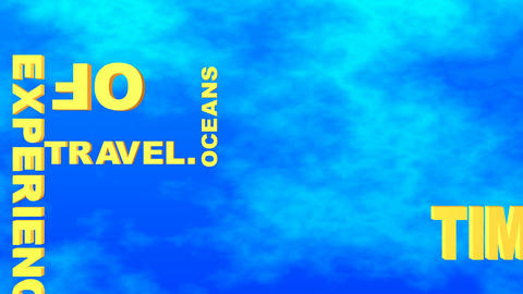 43 3d animated text for travel subjects Animation