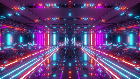 futuristic space temple tunnel corridor with cool reflections and glass bottom Videos animados