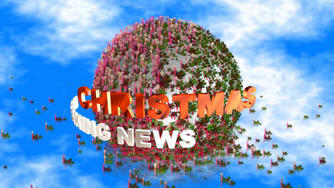 68 3d animated christmas card with words breaking news Animation