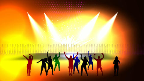 48 animated template on subject entertainment music concert Animation