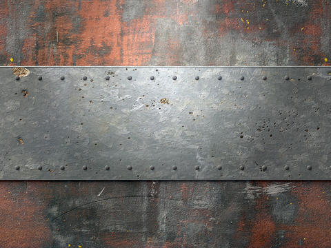 Metal texture with rivets background Photo