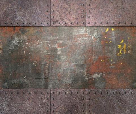 Rusty metal plates Fotografía