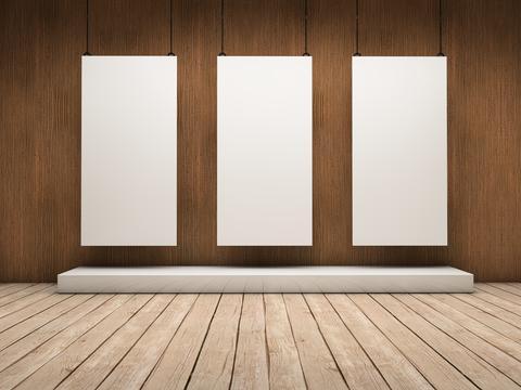 Three expositors Fotografía
