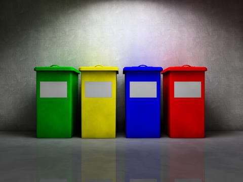 Trash recycling フォト