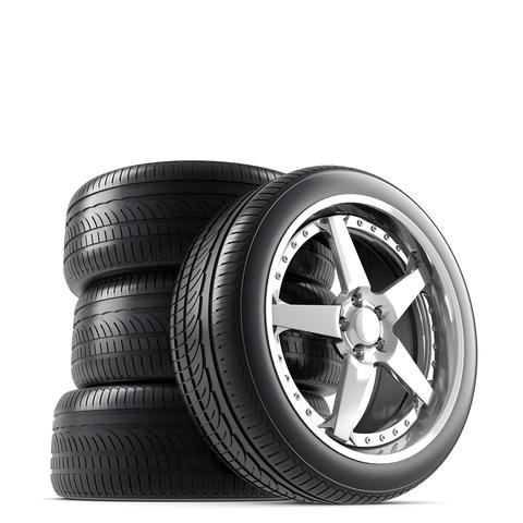 Wheels on white background フォト