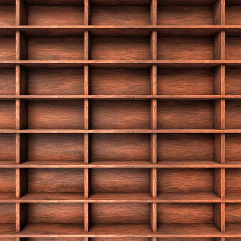 Wood shelves slots Fotografía