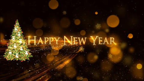 77 animated 3d happy new year greeting card or template Animation