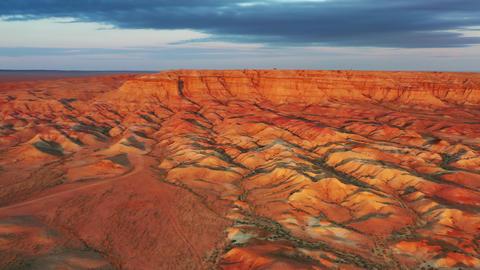 Textural colorful striped canyons Tsagaan suvarga Footage