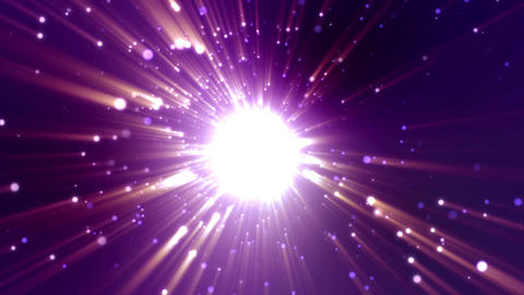 Particle purple light flare loop animation Videos animados