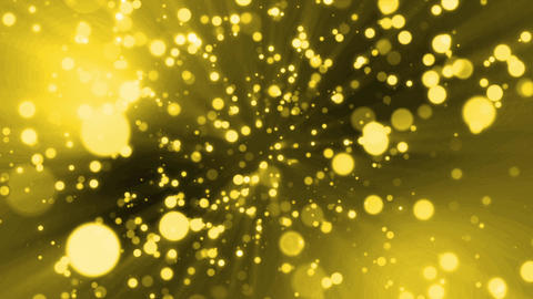 Particle gold light flare loop animation Animation