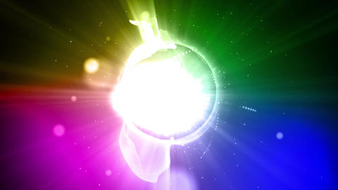 Rainbow light flare loop animation Animation