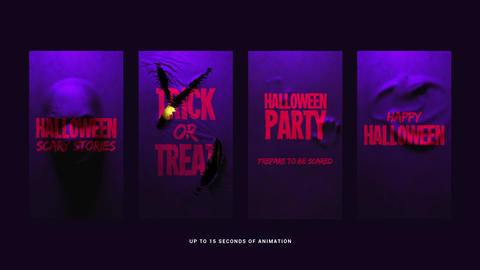 Halloween Scary Stories After Effects Template