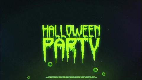Halloween Logo After Effects Template