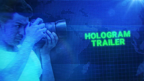 Hologram Trailer After Effects Template