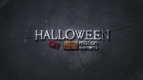 HALLOWEEN SPIDERS LOGO INTRO After Effects Template